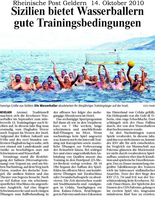 101014 Wasserball Trainingslager