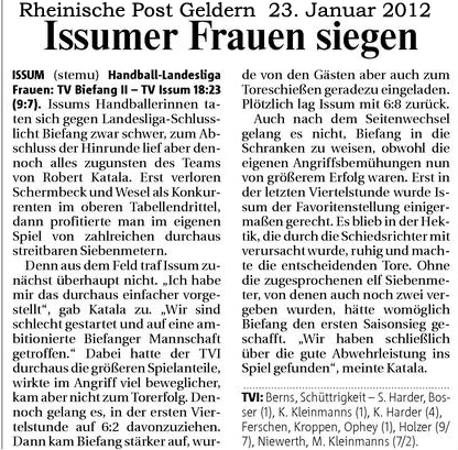 120123 Issumer Frauen siegen