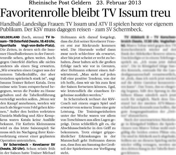 130223 Favoritenrolle bleibt TV Issum treu