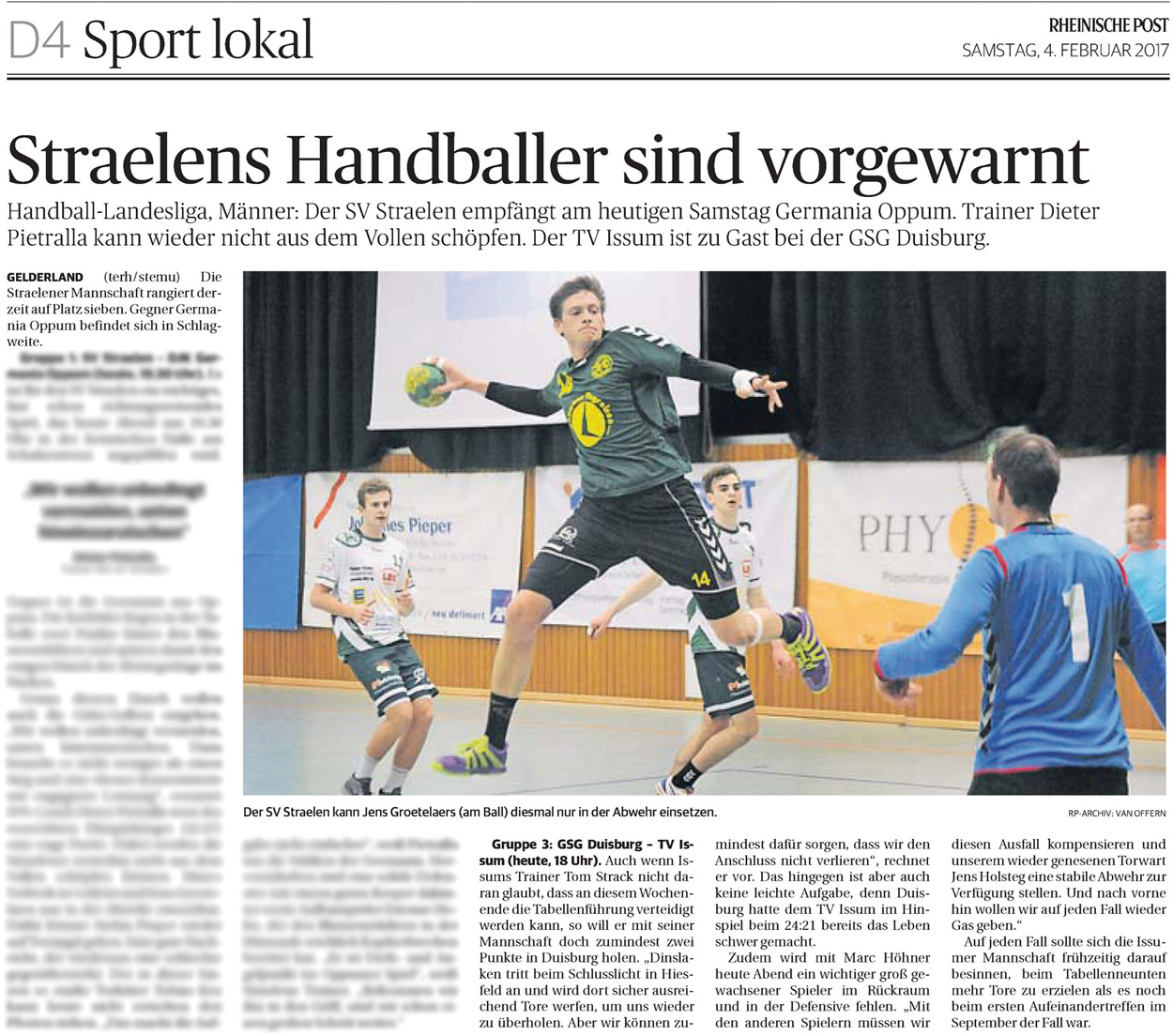 170204 Handballmänner TV Issum