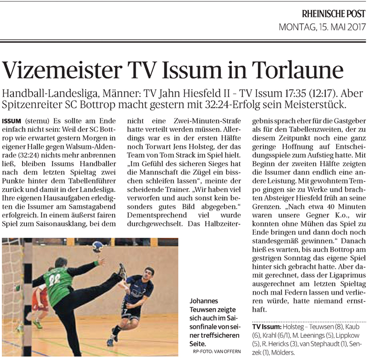 170515 Vizemeister TV Issum in Torlaune