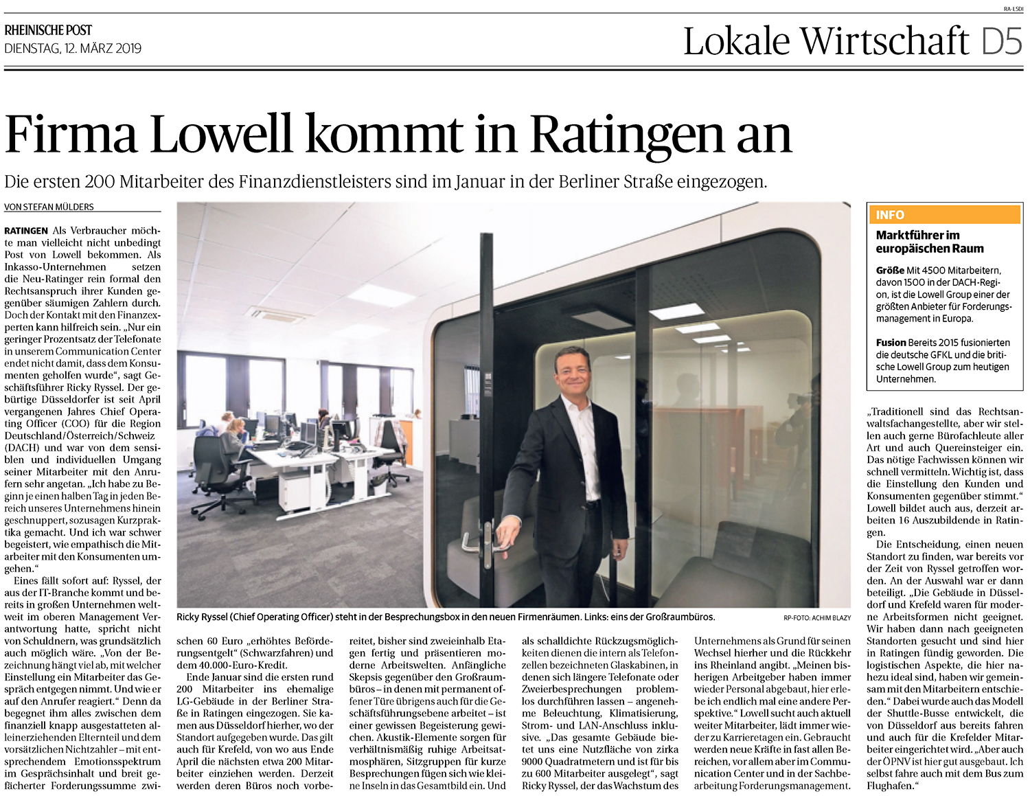 190312 Firma Lowell kommt in Ratingen an